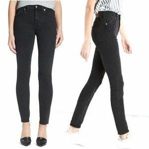 Madewell faded black high riser skinny jeans 29
